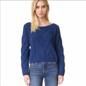 Free People Sticks and Stones Sweater - Blue, L
